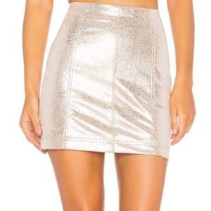 FREE PEOPLE - Modern Femme Metallic Mini Skirt